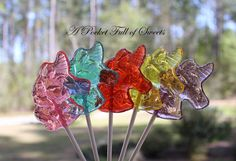 12 RAINBOW Colors UNICORN Party Barley Sugar Hard Candy Lollipops Suckers Birthday Party Gifts on Etsy, $21.99