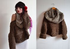 Chunky Knit Sweater for Women / / made to by TheArtandFoundBrand