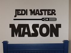 Star Wars Jedi Master Decal  Star Wars Decal  by homesweetwalls