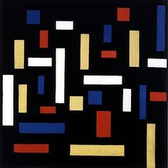 Theo Van Doesburg, Composition VII - The Three Graces, (1917) - abstract art