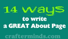 14 ways to write a great about page! #blogging