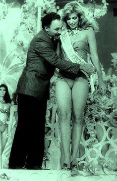 Maite Delgado Miss Anzoategui es Reconocida por los Medio del País como Miss Fotogenica la Noche Mas Linda del Año,, el Miss Venezuela 1986