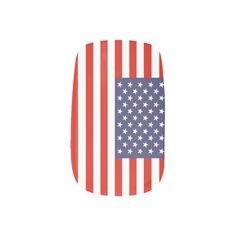 American flag nail enhancements | 4th of July idea Minx Nail Art.  Click on image to see design on hands.  Check out artist's link.
