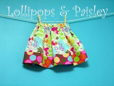 Made to Order YOUR FABRIC CHOICE Banded Skirt by LollipopsPaisley, $15.00