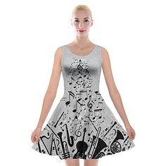 PattyCandy Womens Drapey Flare Loose Fit Tank Dress/Velvet Skater Dress,XS-5XL