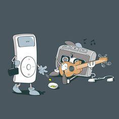 Ilustrações engraçadas por Pandaluna - Era Tecnológica
