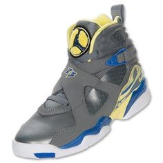 hot sales a6e7a 68c40 Girls Air Jordan 8 Retro GS Laney Cool Grey Violet Force Yellow 580528-038  GS 4.5 for sale online   eBay