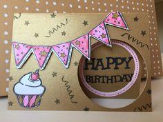 Happy Birthday handmade card door MadeByMiekXo op Etsy