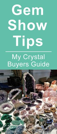 Gem Show Tips and Crystal Buyers Guide to shopping for healing crystals at Gem S… - DIY Jewelry Minerals And Gemstones, Crystals Minerals, Stones And Crystals, Gem Stones, Crystal Guide, Crystal Shop, My Gems, Rocks And Gems, Healing Stones