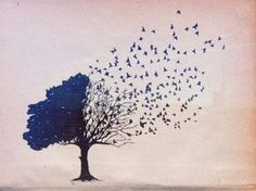 I really really like this concept, especially with the tree. Maybe with the tree on my side, and the birds stretching up my back and across my shoulders?