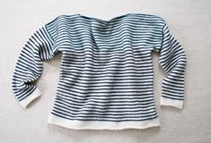 Striped Spring Shirt | Purl Soho - Create  Maybe make rainbow strips and use up old skeins