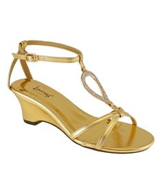 Gold Mawen Sandal