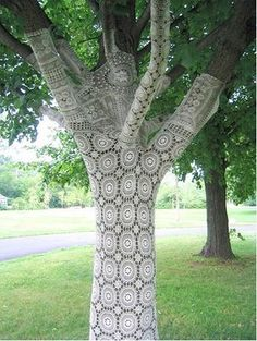 Crocheted tree.