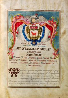 Ennoblement Act of Jan Bakałowicz engineer and major in the royal army issued by Stanislaus Augustus by Anonymous from Warsaw, September 22, 1775 (PD-art/old), Biblioteka Czartoryskich