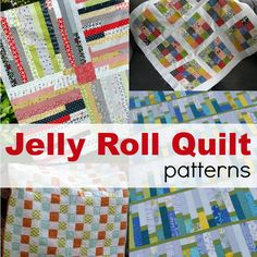 Jelly Roll Quilt Ideas BY THE SEWING LOFT Jelly roll quilts are easy to make and stitch together in a flash. Here are a few of my favorite free patterns to help you stitch up a storm. Strip Quilts, Easy Quilts, Quilt Blocks, Jelly Roll Sewing, Rag Quilt Patterns, Sewing Patterns, Sewing Terms, Jelly Roll Quilt Patterns, Quilting Tips