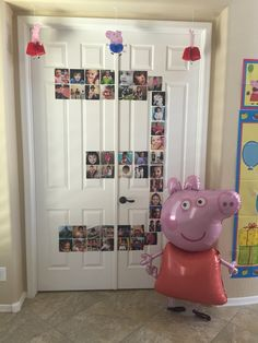 Diso's Peppa Pig Party Peppa | balloon | photographs | three | 3 | birthday | Peppa pig | pink | George | party decor | decorations