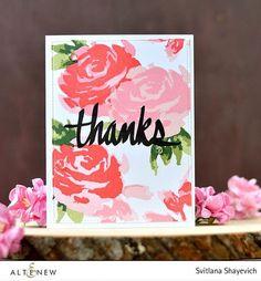 Painted Rose Stamp Set - Altenew   - 1