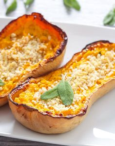 Twice-backed butternut squash is the perfect side dish. Get this delicious vegetarian Thanksgiving side recipe and more now.