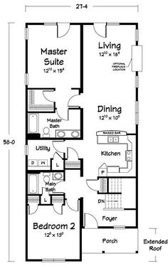 2181499796595796 on 2 bedroom starter home plans