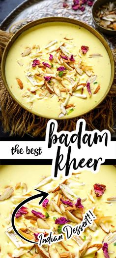 Almond Kheer or Badam Kheer is a delicious Indian dessert where milk is cooked with almond paste and saffron. Make it for festivities for your house party, it will please everyone.