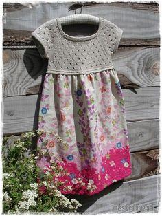 Fancy Summer Dress - Miss Grain de Sel Jumper Patterns, Baby Girl Dress Patterns, Baby Girl Dresses, Baby Knitting Patterns, Girls Blue Dress, Hot Pink Dresses, Summer Dresses, Vestidos Sport, Crochet Fabric
