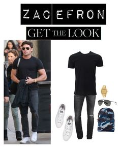"""""""Get the Look: Zac Efron"""" by pam-archer ❤ liked on Polyvore featuring Dsquared2, Converse, Porsamo Bleu, Dolce&Gabbana, Valentino, men's fashion and menswear"""