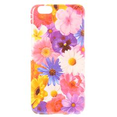 Glitter Floral Phone Case - iPhone 6/6S