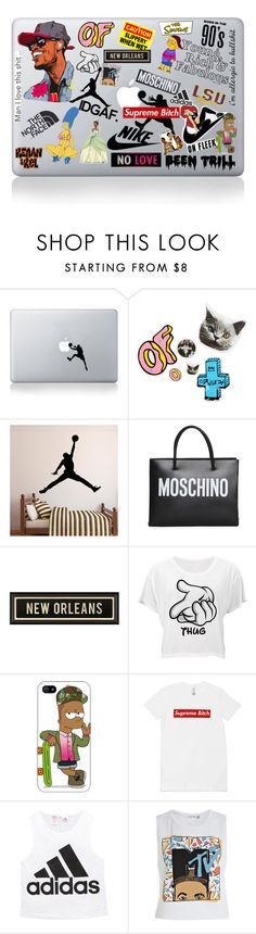 """computer"" by sweetmagnolia87 ❤ liked on Polyvore featuring Vinyl Revolution, ODD FUTURE, Moleskine, The North Face, Nicki Minaj, Moschino, NIKE, Been Trill, Dot & Bo and Disney"