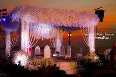 Wedding mandap, Indian Wedding All white flowers, mandap ideas, #wedding