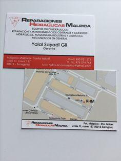 Tarjetas de visita, doble cara plastificado mate - Reparaciones Hidraúlicas Malpica