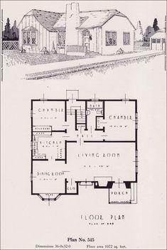 Design No. 545  1926 Portland Homes Plan Book by Universal Plan Service