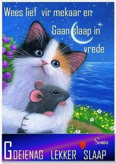 Good Night Wishes, Good Night Sweet Dreams, Good Night Flowers, Afrikaanse Quotes, Goeie Nag, Morning Inspirational Quotes, Morning Greeting, Fantasy Creatures, Spiritual Quotes