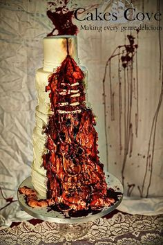 45 Creative Halloween Wedding Cakes Ideas is part of Zombie wedding - When it comes to wedding ceremony, you may only concern at your wedding dress, guest banquet, venue decoration and your […] Zombie Wedding Cakes, Gothic Wedding Cake, Gothic Cake, Halloween Wedding Cakes, Crazy Wedding Cakes, Zombie Cakes, Horror Cake, Crazy Cakes, Cake Art