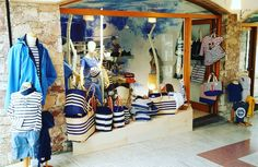 Marine &Nautical Clothing New Shop in Calella de Palafrugell, Carla LLimona Shop Nautical Clothing, Nautical Outfits, Summer Decoration, New Shop, Clothes, Shopping, Outfits, Clothing, Kleding