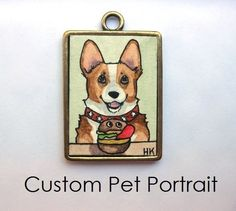 Custom Pet Portrait  Personalized Original by HeatherKent on Etsy, $47.00