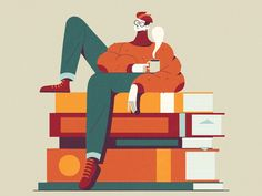 Autumn Reading designed by MUTI. Connect with them on Dribbble; the global community for designers and creative professionals. Flat Illustration, Character Illustration, Graphic Design Illustration, Motion Design, Book Design, Vector Art, Character Design, Design Inspiration, Autumn Inspiration