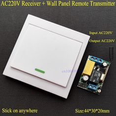 Wireless Remote Control Switch AC 220V Receiver Wall Panel Remote Transmitter Hall Bedroom Ceiling Lights Wall Lamps Wireless TX  Price: 10.38 USD