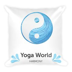 Yin Yang Yoga World Harmony  Pillowcase w/ stuffing