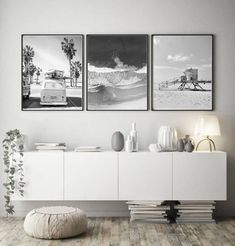 Home Decorating And Staging Key: 9270350574 Black And White Wall Art, White Walls, Black White, Living Room Decor, Bedroom Decor, Bedroom Ideas, Wall Decor, Long Walls, Beach Wall Art