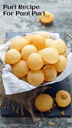 Puri recipe for paani puri. How to prepare puri for pani puri. How to make golgappa at home. - Puri Recipe for Pani Puri Puri Recipes, Veg Recipes, Vegetarian Recipes, Snack Recipes, Cooking Recipes, Paneer Recipes, Cooking Tips, Pani Puri Recipe, Chaat Recipe