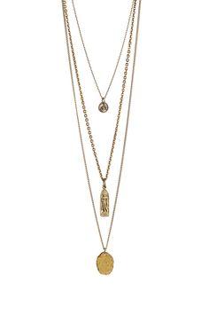 Triple Strand Pendant Necklace by mariechavez on @HauteLook
