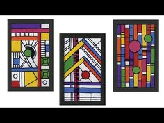 United Art and Education Original Art Project: Use colored cello sheets and Sharpie markers to make a faux stained glass window! http://www.unitednow.com/pro...