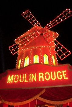 At the Moulin Rouge!