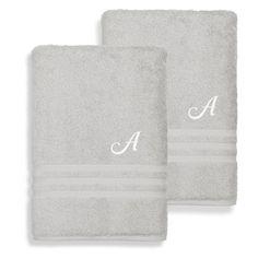 Linum Home Textiles Denzi Cotton Bath Sheets - Set of 2 Grey