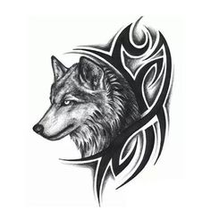 Temporary Wolf Tattoo