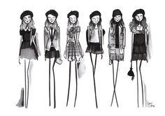 Items similar to Girls Room Art, Tween Art, Girls art print, Fashion Print, Fashion Drawing, Fashion illustration, Quirky Illustration on Etsy