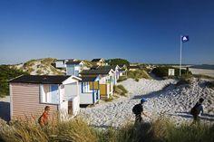 beach huts, somewhere in Sweden.