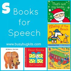 A long list of books with 's' words for preschoolers who need articulation practice.