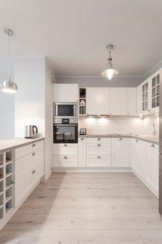 L Shaped Kitchen Dining Room Layout – Dining Room Ideas Grey Kitchen Designs, Kitchen Room Design, Dining Room Design, Home Decor Kitchen, Interior Design Kitchen, Country Kitchen, Kitchen White, Open Kitchen, Kitchen Flooring