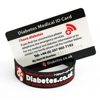 Standard Diabetes ID Card + FREE Family ID Cards and Diabetes Wristband - £17.97 #diabetes #identification #diabetes.co.uk